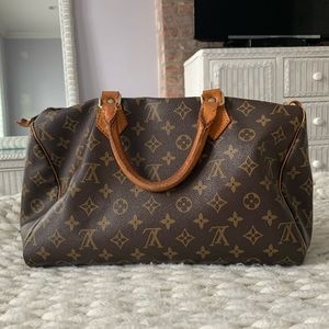 LV Louis Vuitton Speedy Logo Canvas Monogram Bag